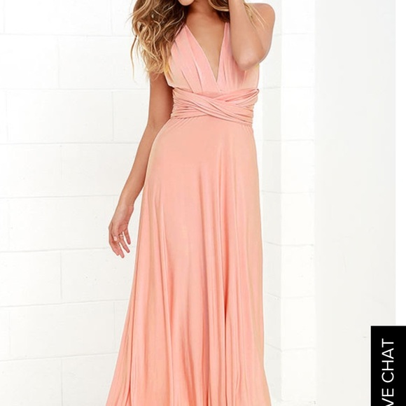 df1651a2c58 Lulu s Dresses   Skirts - ALWAYS STUNNING CONVERTIBLE BLUSH PINK MAXI DRESS
